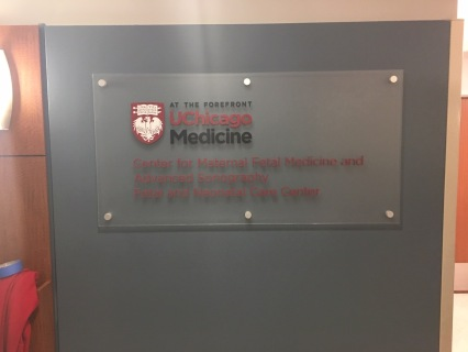 University of Chicago-Medicine (Chicago, IL); Cap & Barrell Sign for the Center for Materal Fetal Medicine and Advanced Sonography