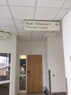 Rush Alzheimer's Disease Center (Rush University Medical Center); Ceiling-hung Directional Sign