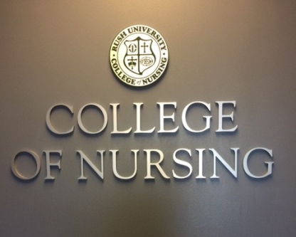 Rush University College of Nursing (Chicago, IL); Dimensional Letters and Logo