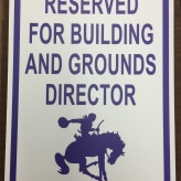 Parking Sign (Arcola School District 306); Aluminum Sign Base with Exterior Grade Digital Print