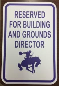 Parking Sign (Arcola School District 306); Aluminum Sign Base with Exterior Grade Digital Print