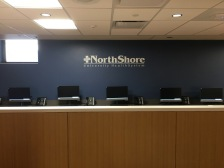 NorthShore University HealthSystem (Evanston, IL); Painted White Dimensional Letters and Logo