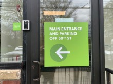 Oak Street Health Parkside Clinic (Philadelphia, PA); Exterior-Grade Digital Prints on Aluminum