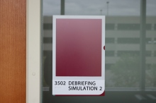 Loyola Medical Campus (Maywood, IL); ADA T&B Room Sign with Message Holder