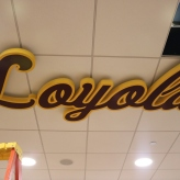 Men's Locker Room Loyola Hanging Sign (Chicago, IL)