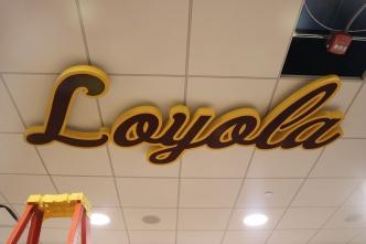 Men's Locker Room Loyola Hanging Sign (Chicago, IL)