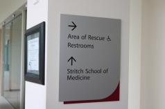 Loyola Medical Campus (Maywood, IL); SSOM/AOR Direcitonal Signage