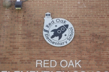 Red Oak Elementary School (Highland Park, IL); 4' Etched Aluminum Plaque