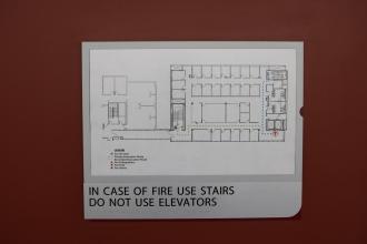 Loyola Medical Campus (Maywood, IL); Evacuation plan and holder