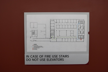 Loyola Medical Campus (Maywood, IL); Evacuation plan and holder