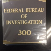 Federal Bureau of Investigation (Chicago, IL); ADA Tactile & Braille Sign with Gold Accent Bars