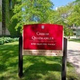 Crerar Quadrangle (University of Chicago); Post & Panel Sign