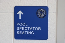 Highland Park High School (Highland Park, IL); ADA Tactile and Braille Directional Sign + Logo