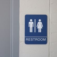 Ravinia Elementary School (Highland Park, IL); ADA Tactile and Braille Restroom Sign