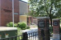 Roosevelt Middle School (Norridge, IL); Etched Aluminum Directional Signs + Aluminum Dimensional Letters