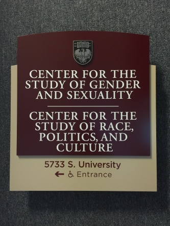 University of Chicago (Chicago; IL); High Performance, Exterior-Grade Vinyl and Silkscreened Copy + Stainless Steel Etched Plaque ahdered to Two-Tiered Aluminum Face-Plate