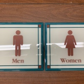 Hamilton Partners (Downers Grove, IL); Silk Screened Design (sub-surface) with Top Surface Print, Men & Women Restroom Signs