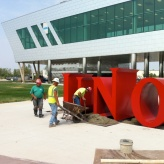 UNO Academy (Chicago); 6-foot, Freestanding Aluminum Letters