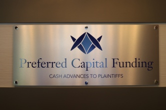 Preferred Capital Funding (Chicago, IL); Aluminum Sign-Base with High Performance Vinyl Graphics with Silver Standoffs and Caps