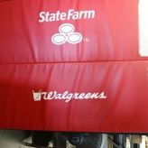 Jesse White Tumbler Mats (Chicago, IL); Custom Screen Printed State Farm & Walgreens Graphics on the Famous JWT Mats