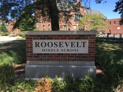 Roosevelt Middle School (River Forest); Precision-tooled Panel with Raised Letters