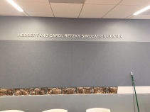 Herbert and Crol Retzky Simulation Center (University of Illinois-Chicago); Stainless Steel Dimensional Letters