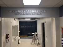 Herbert and Crol Retzky Simulation Center (University of Illinois-Chicago); Two Sets of Stainless Steel Dimensional Letters