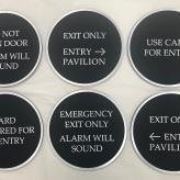 Circular Directionals (Atlanta, GA); Etched Aluminum Plaques