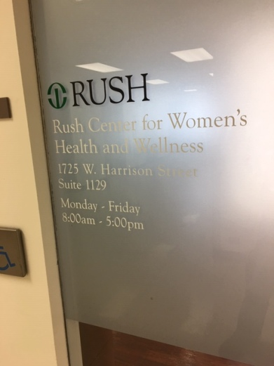 Center for Women's Health and Wellness (RUSH University); High-Performance Vinyl with Second-Surface Frosted Vinyl