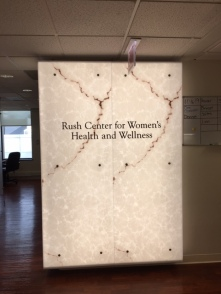 Center For Women's Health and Wellness (RUSH University); Acrylic Dimensional Letters Painted Black