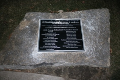 JCFS Chicago (Lincolnwood, IL); 24x20 Cast Aluminum Plaque + Single Line Border and Tamper-resistant Screws
