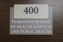 Stritch School Of Medicine Room Sign (Loyola University -- Maywood, IL); ADA Tactile and Braille Room Sign + Room Designation