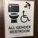University of Illinois at Chicago (Chicago, IL); ADA Tactile and Braille All Gender Restroom + Mother's Room & Handicap Accessible Pictogram