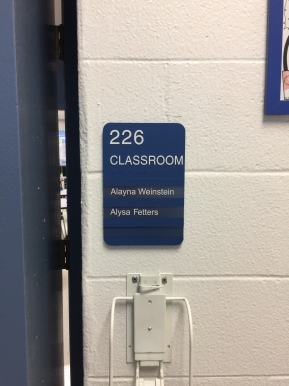 Indian Trail Elementary School (Highland Park, IL); ADA Tactile and Braille Room Sign with 3 Window Units + 2 Mylar Inserts with High-Performance Vinyl