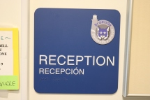 Braeside Elementary School (Highland Park, IL); ADA Tactile and Braille Reception Sign + Logo