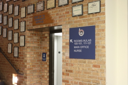 Northwood Junior High at Elm Place (Highland Park, IL); High-Performance Digital Print on Painted Acrylic